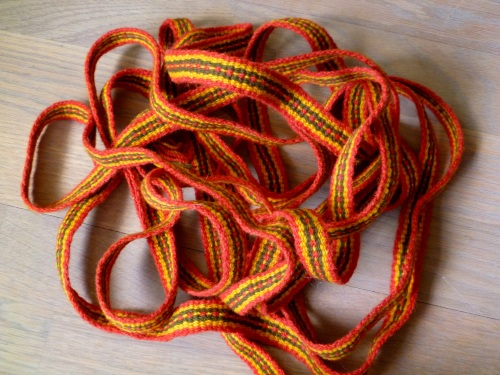 Inkle loom woven band