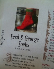 Fred George socks harry potter