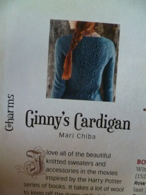 Ginny's cardigan harry potter knits